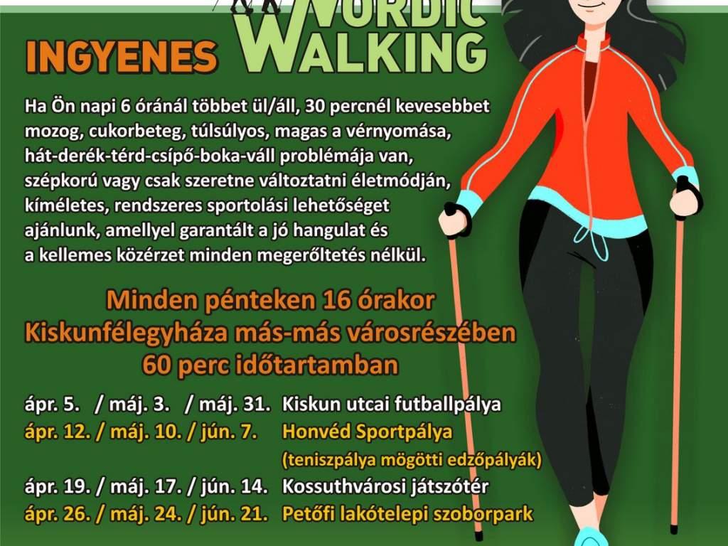 Nordic walking – gyalogoljunk az egészségünkért Kiskunfélegyházán