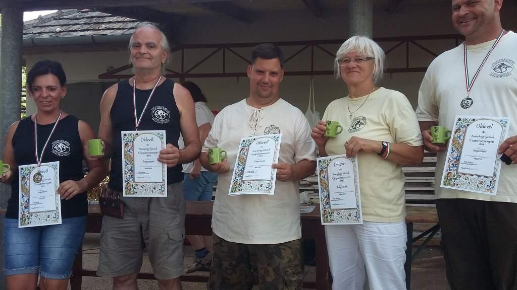 Aranyhegy-csapatversenyen a Koppányok
