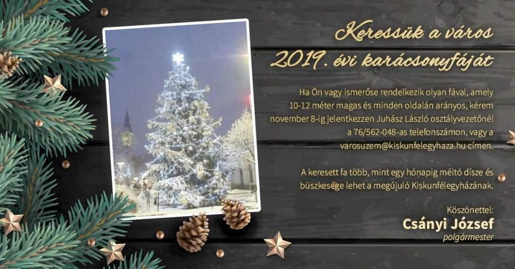 Keressük a város 2019. évi karácsonyfáját