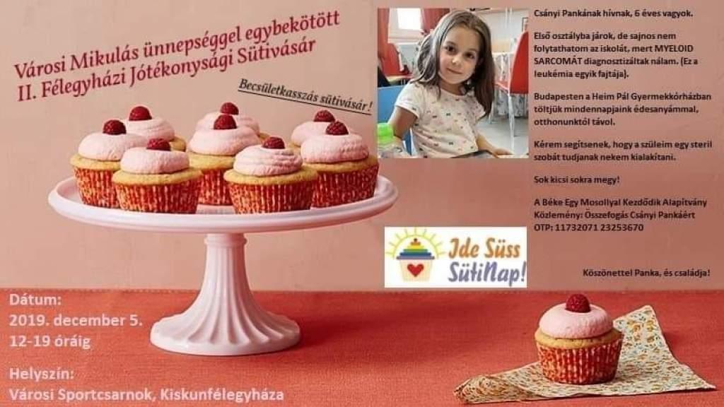 Jótékony sütivásár Pankáért