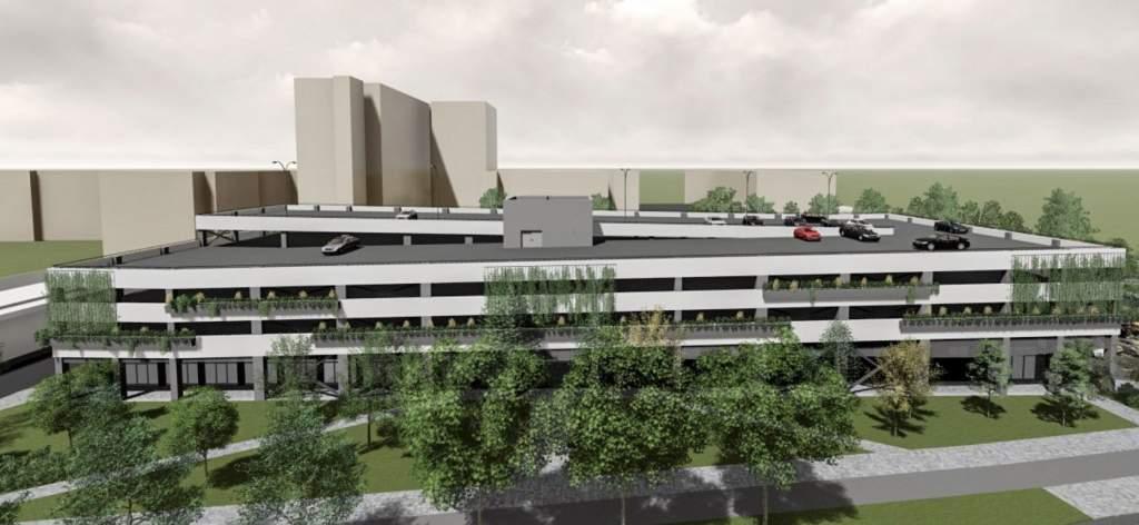 Háromszintes parkolóház épül a megyei kórháznál