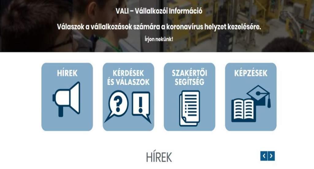 Új portál, a VALI is segíti a vállalkozókat