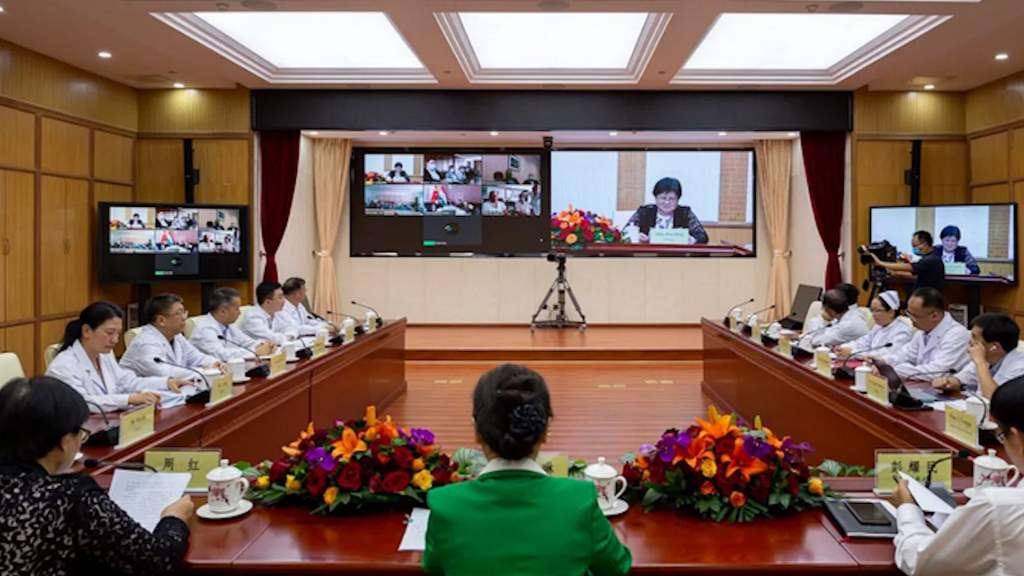 Kínai-magyar videokonferencia a koronavírusról