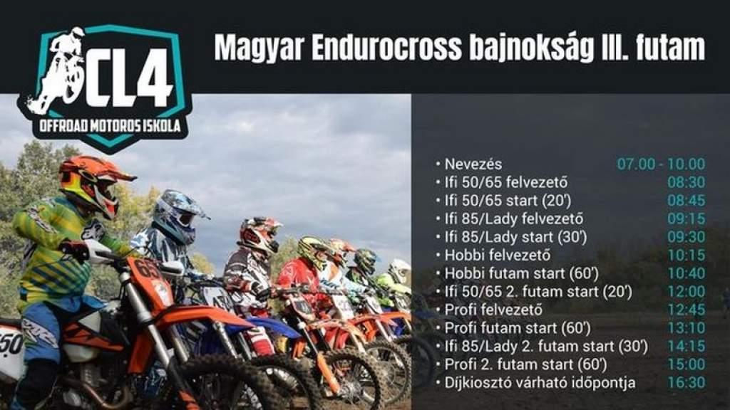 Endurocross-bajnokság a Parkerdőben