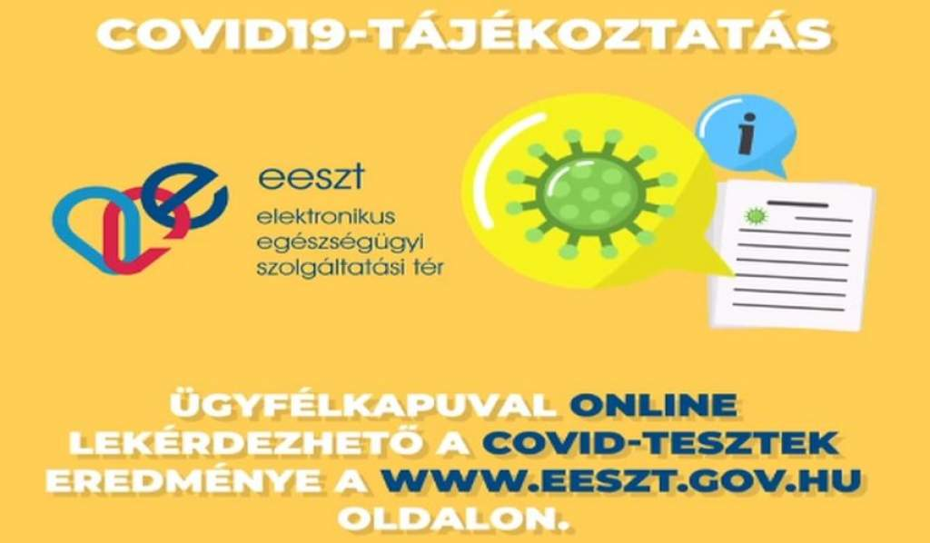Online is lekérdezhető a COVID-tesztek eredménye