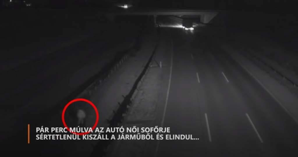 Hihetetlen baleset az M0-ás autóúton – videóval