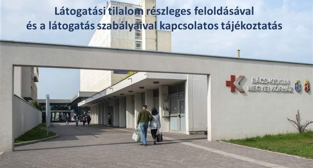 Tájékoztató a megyei kórház látogatási tilalmának részleges feloldásáról