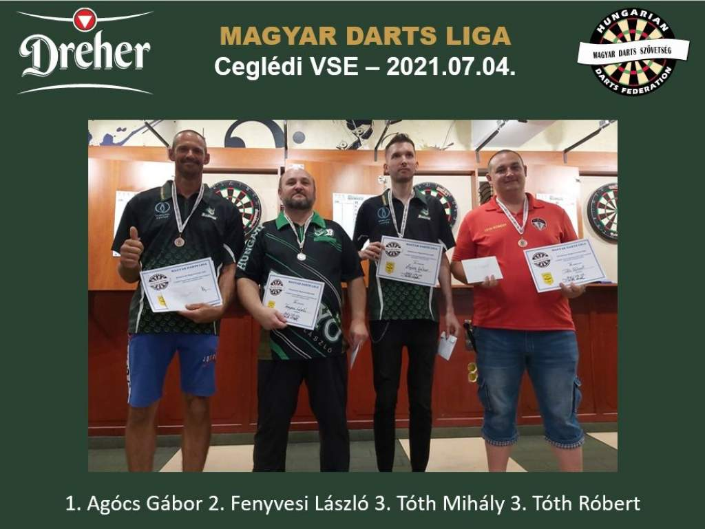 Félegyházi szereplés a Dreher Magyar Darts Ligában