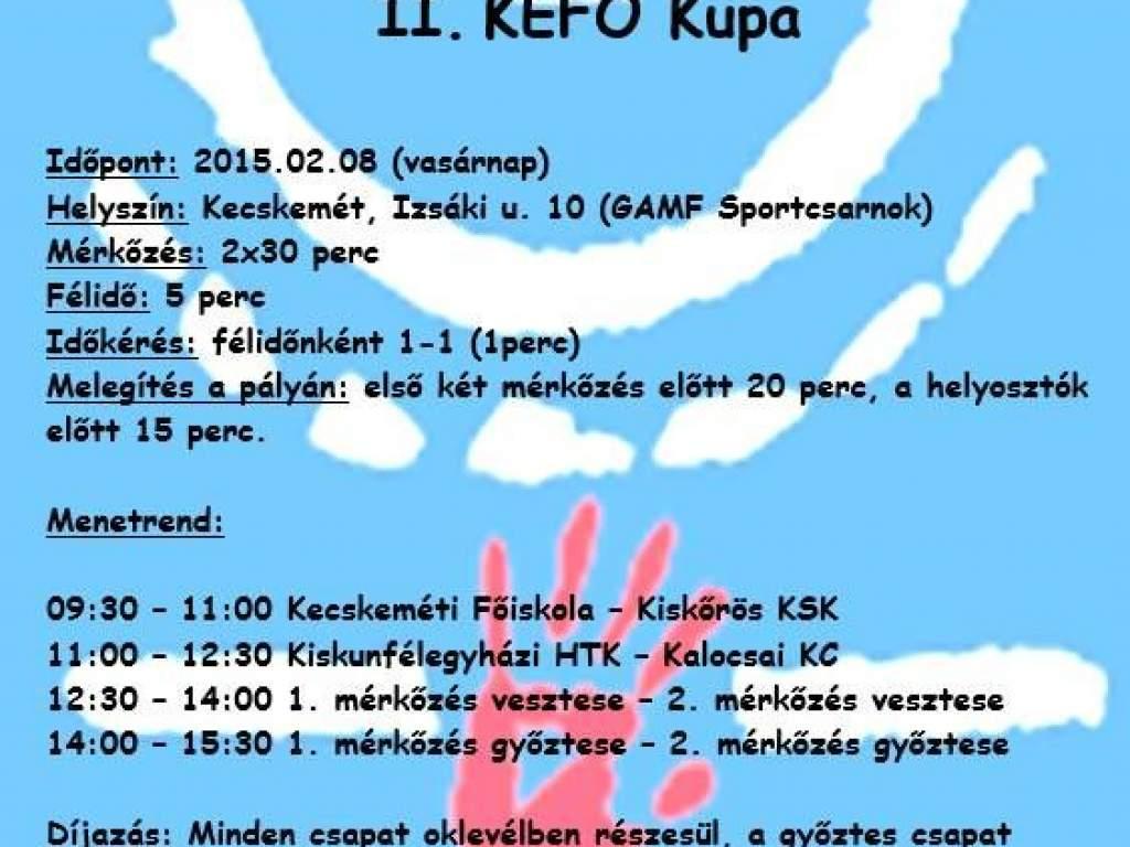 A II. KEFO Kupán szerepel az NBII-es kézicsapat
