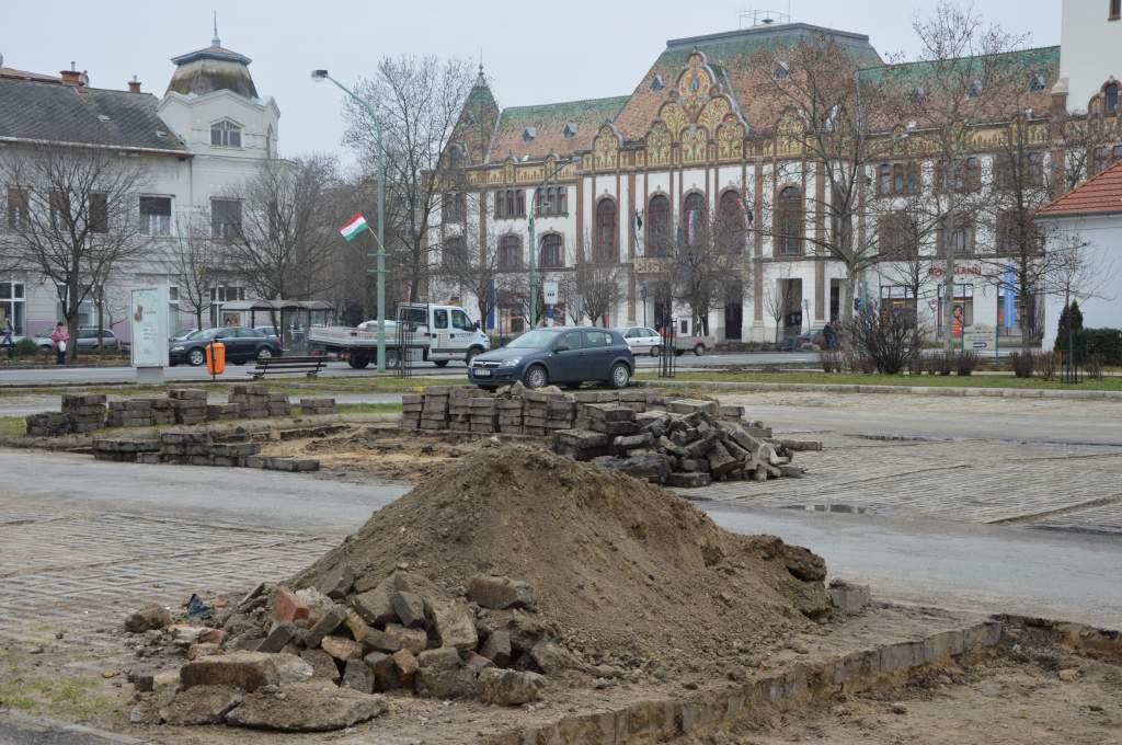 Felújítások a városközpontban