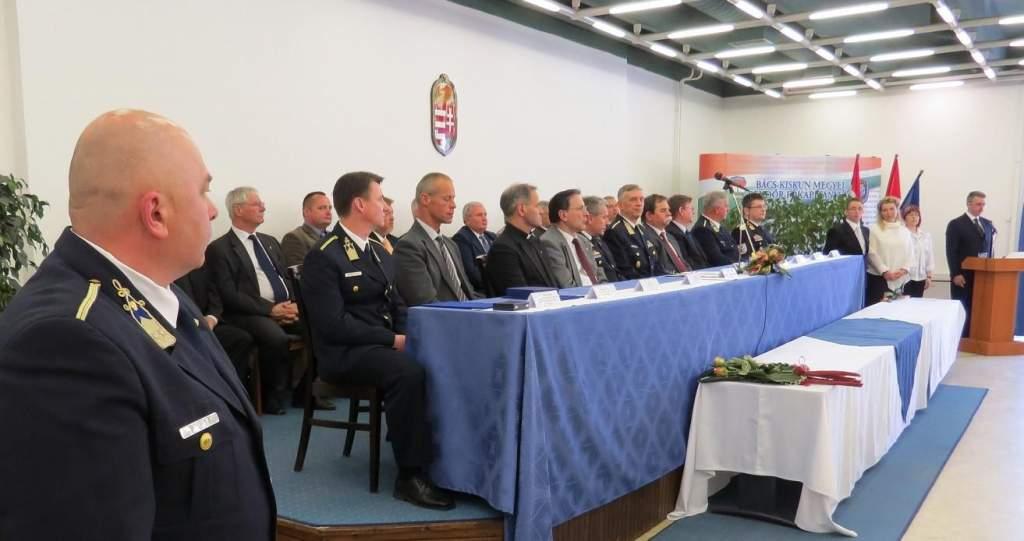 Bács-Kiskun megyei rendőrök elismerése
