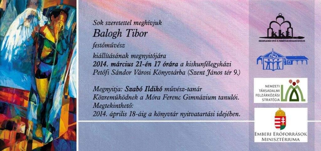 Balogh Tibor kiállítása a könyvtárban