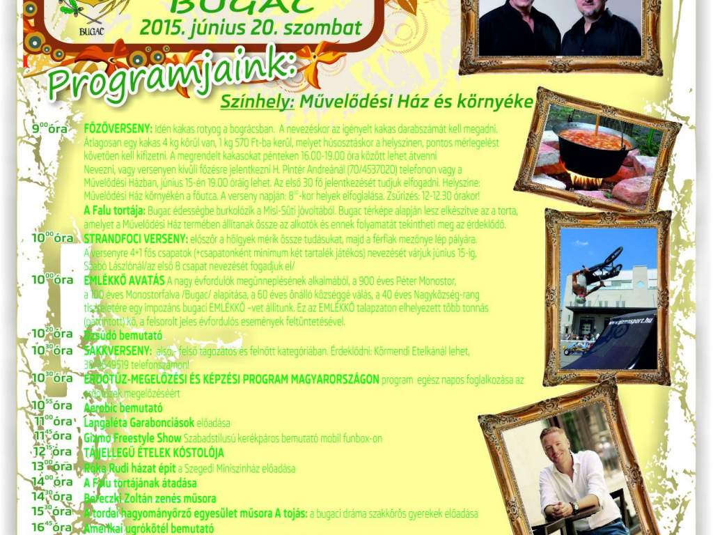 Falunapot rendeznek június 20-án Bugacon