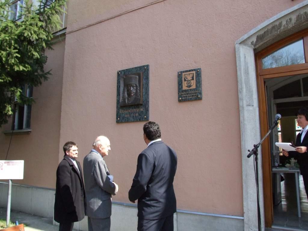 Domborművet avattak II. Rákóczi Ferenc emlékére