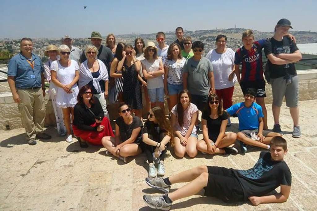 Izraelben jártak a csiperósok