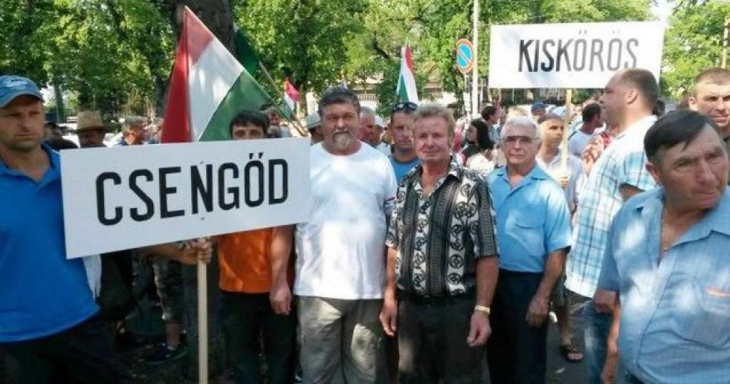 Budapesten tüntettek a Bács-Kiskun megyei szőlőtermelők