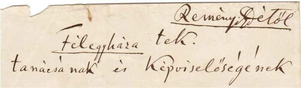 Híres emberek kéziratai a levéltárban – Reményi Ede