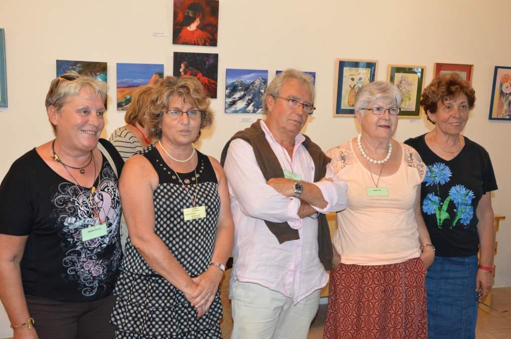 Francia vendégeink képzőművészeti kiállítást is hoztak magukkal a libafesztiválra
