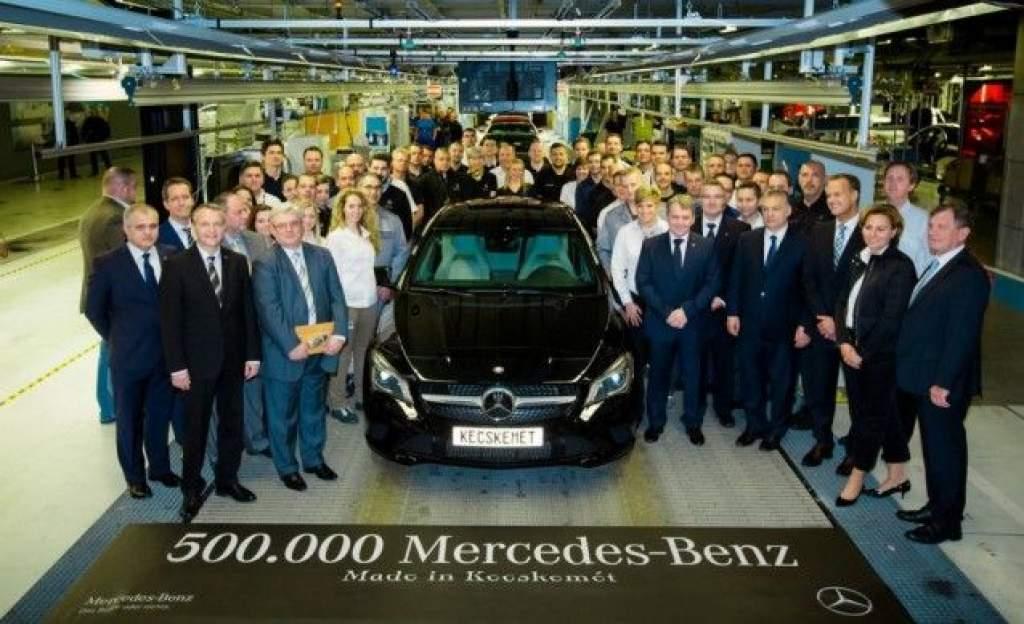 Elkészült az ötszázezredik Mercedes Kecskeméten