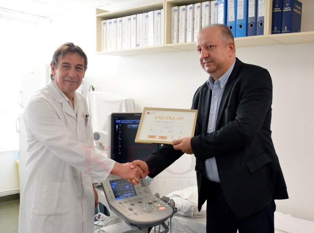 Korszerű ultrahang diagnosztikai készüléket kapott a Bács-Kiskun Megyei Kórház