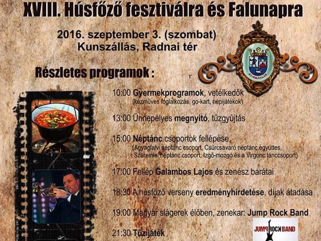 XVIII. Húsfőző Fesztivál és Falunap