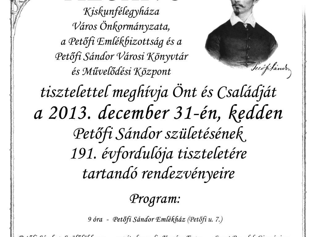 Petőfi Sándor emlékére