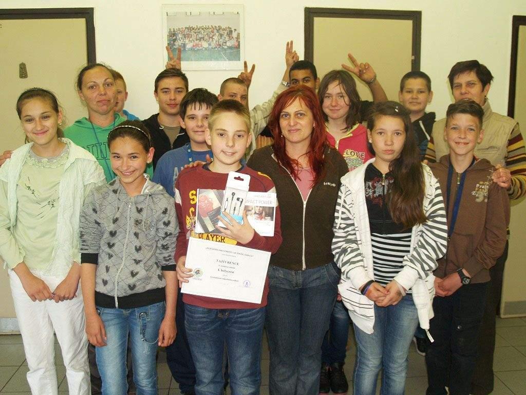 Ünnepelték a nyertest a pálmonostori diákok