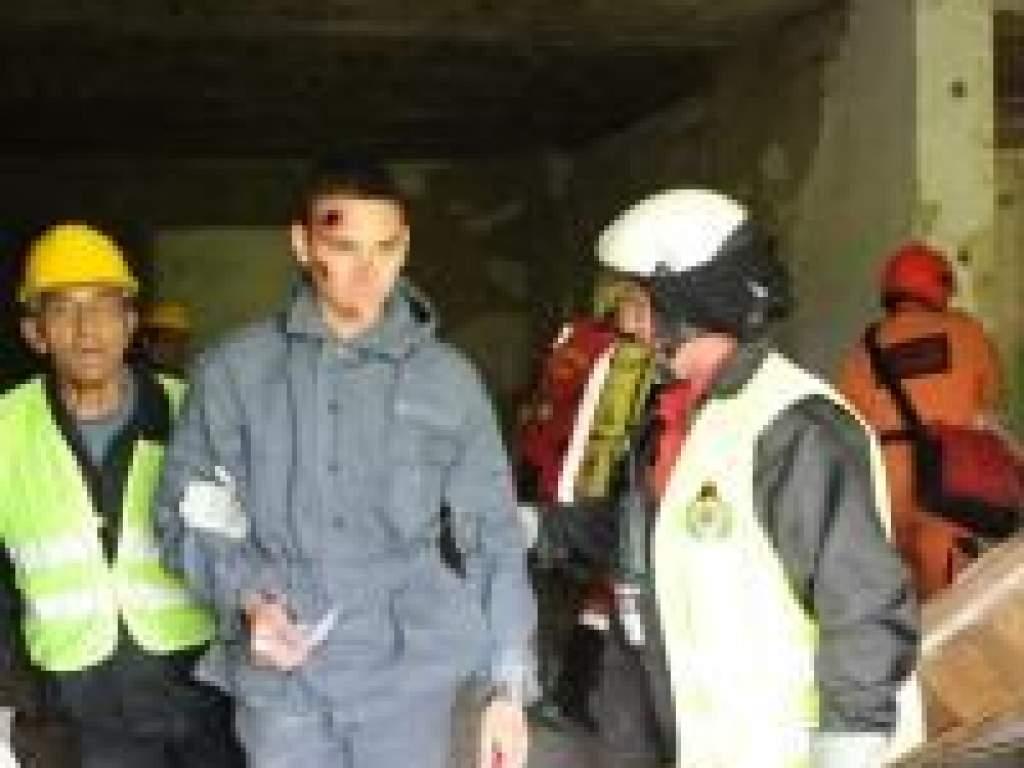 Katasztrófavédelmi gyakorlat civilekkel