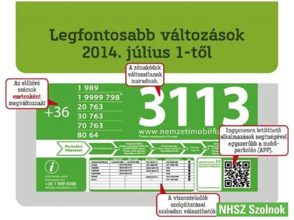763-ra változik a mobilparkolás hívószáma