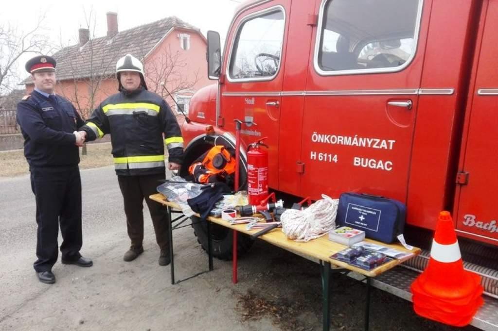 Támogatást kapott a Bugaci Önkéntes Tűzoltó Egyesület