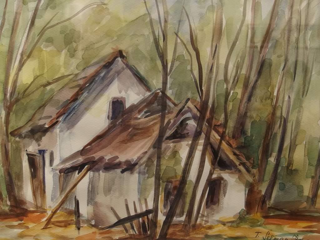 T. Selman Ilona akvarelljei a könyvtárban