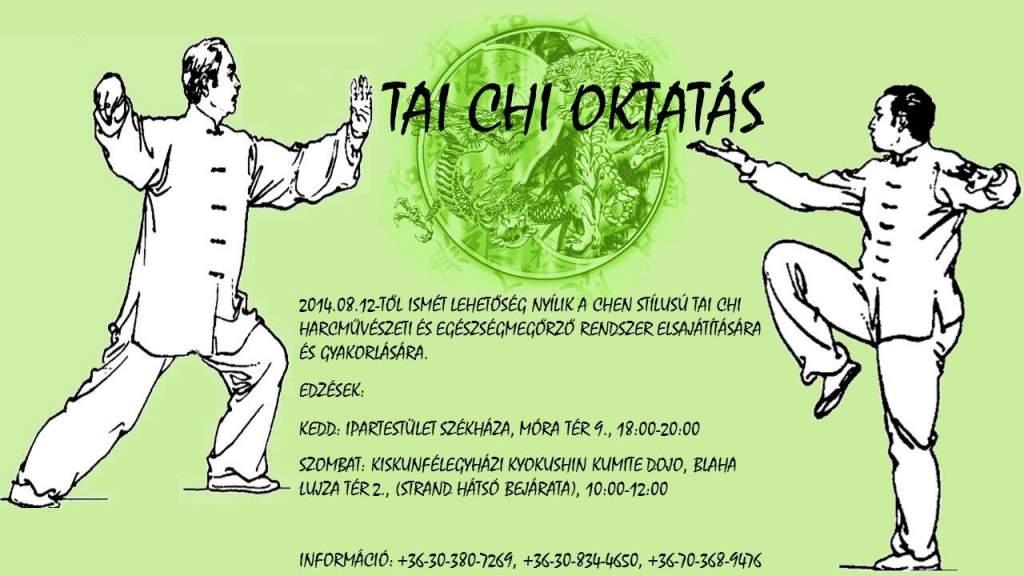 Ismét oktatják a Tai Chi-t Kiskunfélegyházán