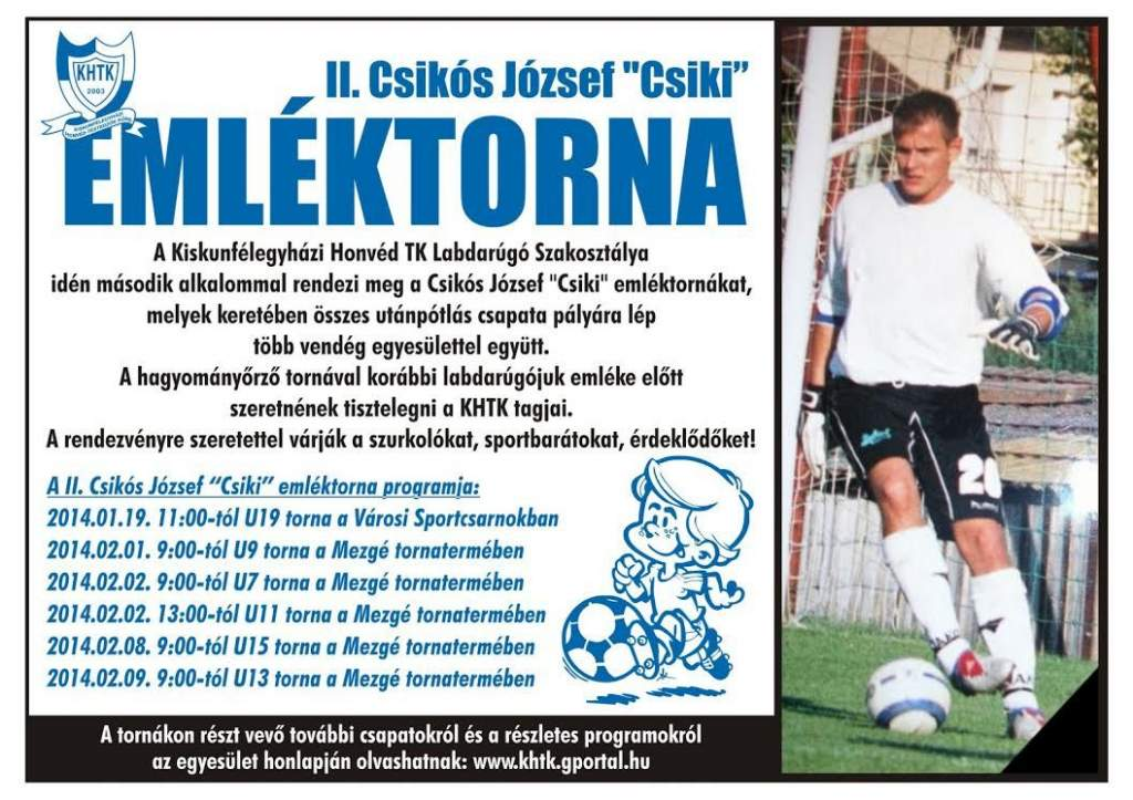 "II. Csikós József ""Csiki"" Emléktorna"