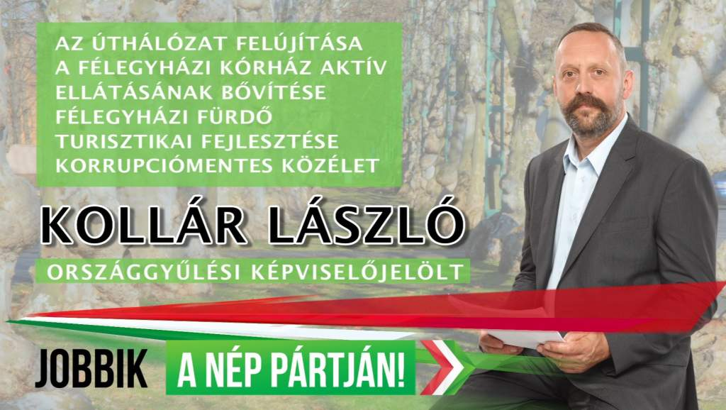 Kollár László, a Jobbik országgyűlési képviselőjelöltje