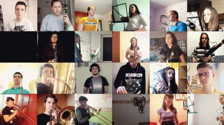 Egy Beatles-dalt szólaltatott meg a Kiskunfélegyházi Ifjúsági Fúvószenekar
