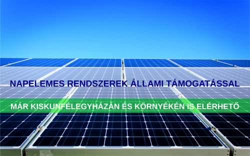 Állami támogatás napelemes rendszer telepítésére magánszemélyeknek